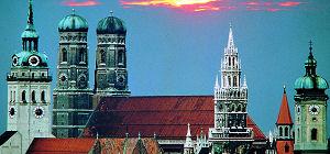 München - Peterskirche, Frauenkirche, Neues und Altes Rathaus
