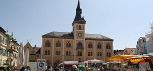 Pfaffenhofen a.d.Ilm - Rathaus mit Markt
